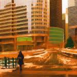 """Evening Walk, Chicago"" by SanjayNayar"