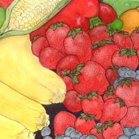 Fruit and Veggies Art Prints & Posters by Danielle Krause