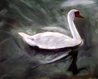 White Swan Oil Painting