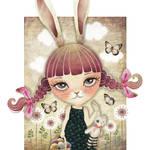 """""""Sugar Bunny"""" by sandygrafik_arts"""
