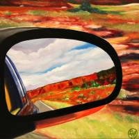 New Mexico, Desert Rear View Mirror Art Prints & Posters by Barry Weatherall