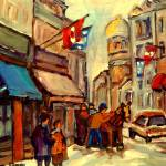 """OLD MONTREAL with flags"" by carolespandau"