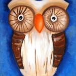 """Ula The Wooden Owl"" by ArtByAlycia"