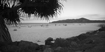 Byron Bay beach bw