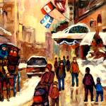 """RITZ CARLTON MONTREAL STREETSCENE"" by carolespandau"