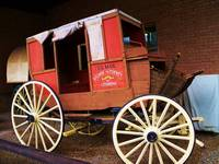 Old Time US Mail Postal Service Wagon