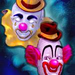 """clown duo"" by pollack"