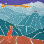 """Spanish podenco dog on a mountain dog"" by Cocasse"