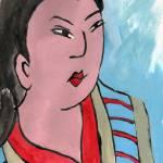 """Edo Daughter, Art inspired by Japanese textiles de"" by schulmanart"