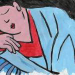 """""""The Dreamer, Art inspired by Japanese textiles"""" by schulmanart"""