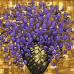 """""""Purple flowers bouquet in vase"""" by modernhouseart"""