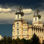 """Manti Temple in Beautiful light"" by houstonryan"