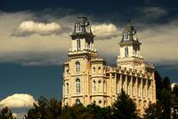 Manti Temple in Beautiful light