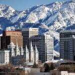 """Downtown slc tall buildings surround temple"" by houstonryan"