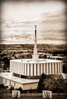 Provo temple several merged files from above sepia