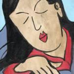"""Serene Edo Beauty, Japanese Art inspired painting"" by schulmanart"