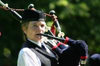 Woman bagpiper