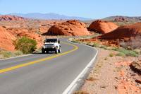 Driving through the Valley of Fire