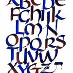 """Alphabet in Red and Blue"" by DeborahWillardDesign"