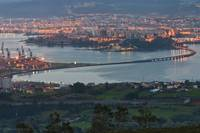 Panorama of Ferrol's Ria from Coto do Rei, Fene.