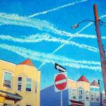 """Chem Trails Over Allston Village"" by AngeloJAversa"