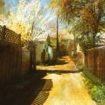 """Alley and Fence Shadows"" by artistfaye"