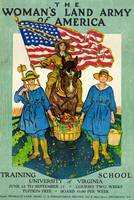 WW 1 WOMEN'S LAND ARMY POSTER