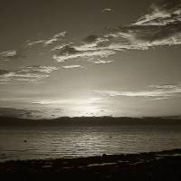monochrome sunset no. 36 Art Prints & Posters by alan petralba