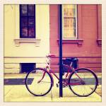 """The bicycle locked up on the sidewalk shot"" by streetlevel"