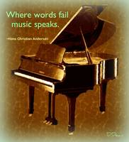 Where words fail,music speaks.