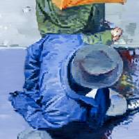 Hat And Umbrella In Paris Rain Art Prints & Posters by Warren Keating