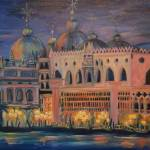 """Venice at Night, Oil"" by MAP8990"