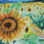 """Sun Flowers, watercolor"" by MAP8990"