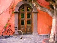 Doorway and Bicycle