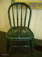 Antique Child's Chair with Quilt