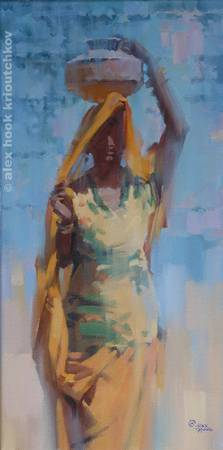Madona of India 2 - oil - canvas