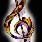 """treble clef"" by needlenink"