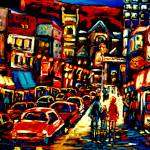 """JAZZ BARS THE CITY AT NIGHT"" by carolespandau"