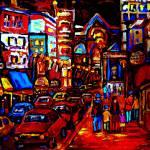 """HOT JAZZ NIGHT IN THE CITY"" by carolespandau"