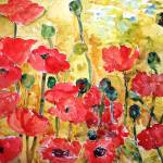 """Poppies Viridian"" by schulmanart"