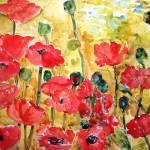 """Poppies Viridian"" by schulmanart"