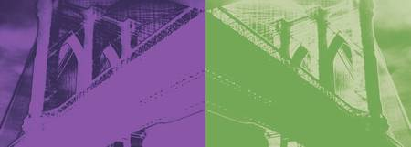 Brooklyn Bridge Never Ends-Purple/Green