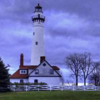 """Wind Point Lighthouse, Racine, Wisconsin"" by jimcharnonphotography"