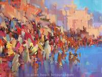 Varanasi 2 / oil - canvas