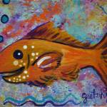"""Golden Fish"" by paintingsbygretzky"