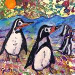 """Penguins"" by paintingsbygretzky"
