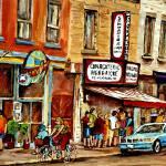 """SCHWARTZS CHARCUTERIE HEBRAIQUE STREETSCENES MONTR"" by carolespandau"