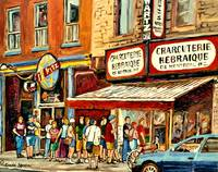 SCHWARTZS FAMOUS SMOKED MEAT SANDWICHES PAINTING B