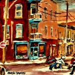 """HOCKEY AFTERSCHOOL MONTREAL WINTERSCENE"" by carolespandau"