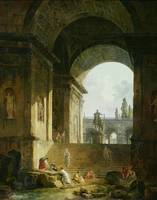 Picturesque View of the Capitol by Hubert Robert